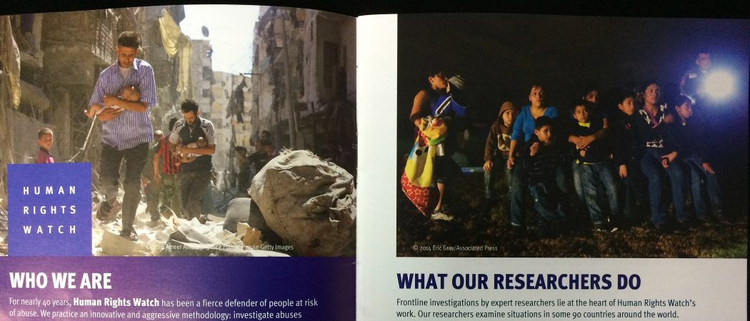 Human Rights Watch Film Festival brochure