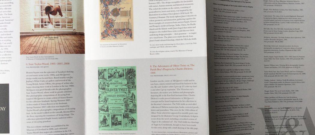 Victoria & Albert Museum leaflet